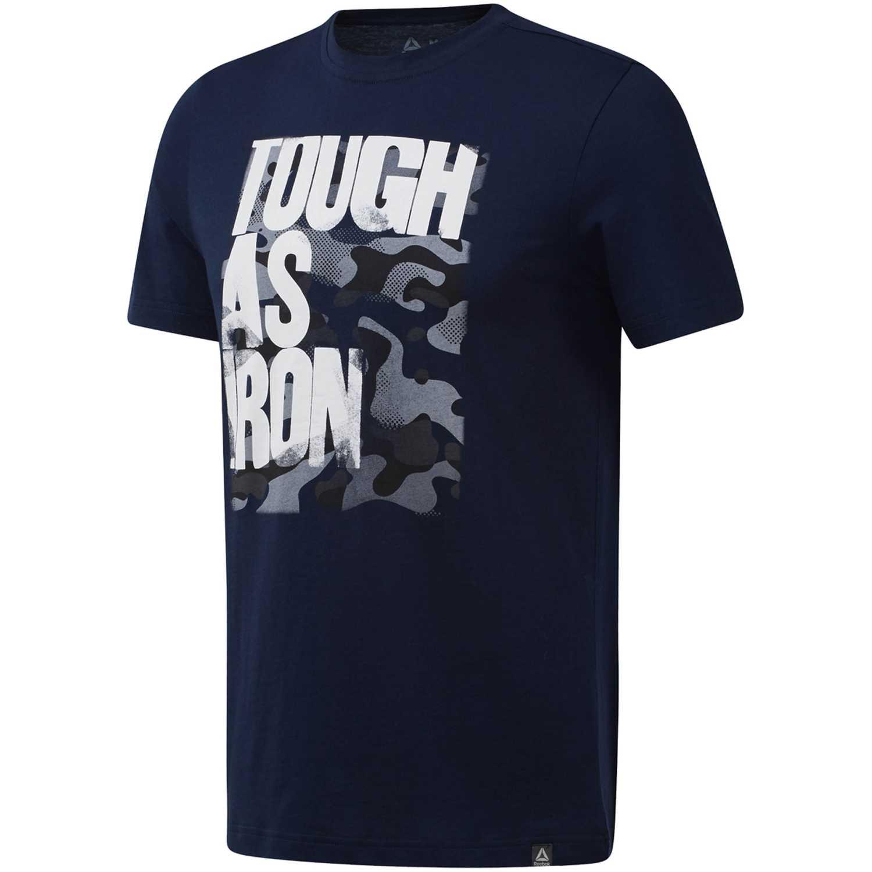 Reebok gs tough as iron crew Azul Camisetas y Polos Deportivos