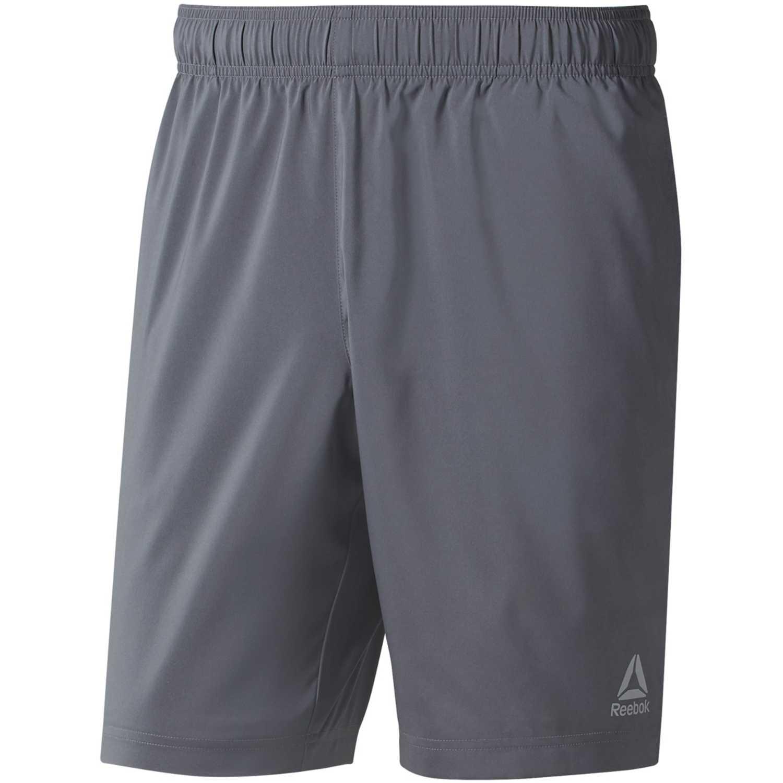 Reebok te woven short Plomo Shorts Deportivos