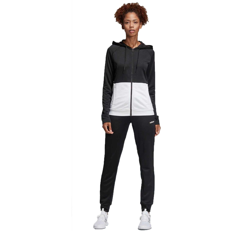 Adidas Wts Lin Ft Hood Negro / blanco Buzos deportivos