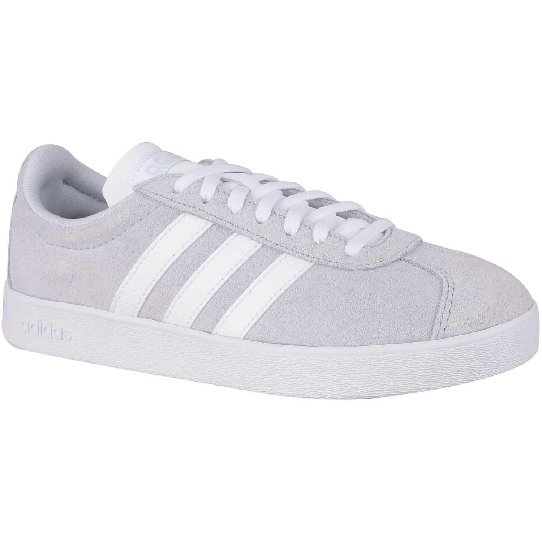 Adidas vl court 2.0 Gris / blanco Mujeres