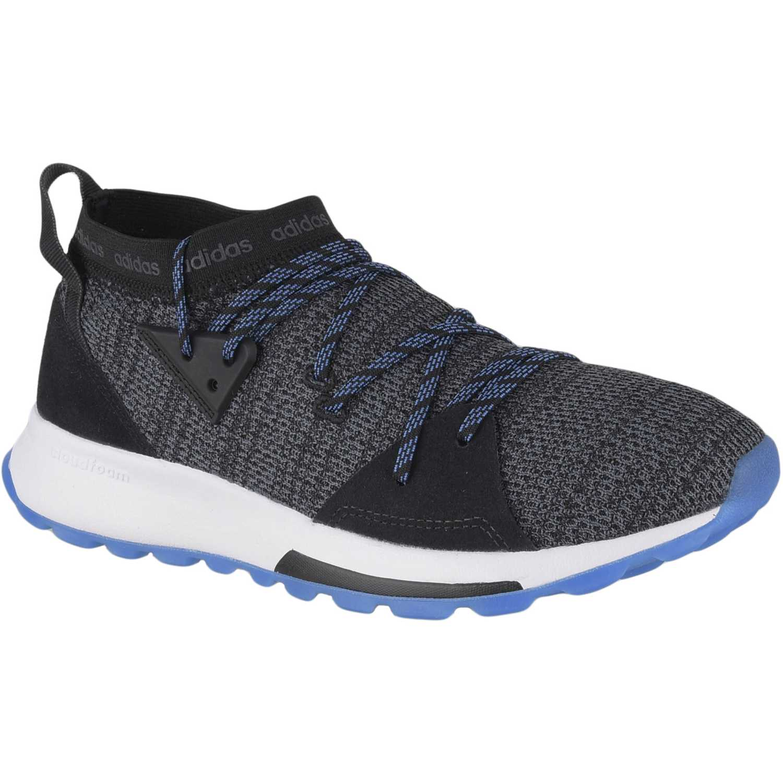 Adidas Quesa Negro / azul Correr por carretera
