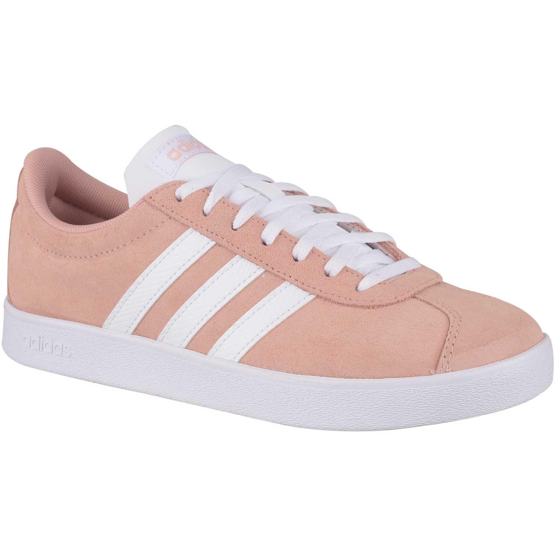 Adidas vl court 2.0 Melon / blanco Mujeres | platanitos.com