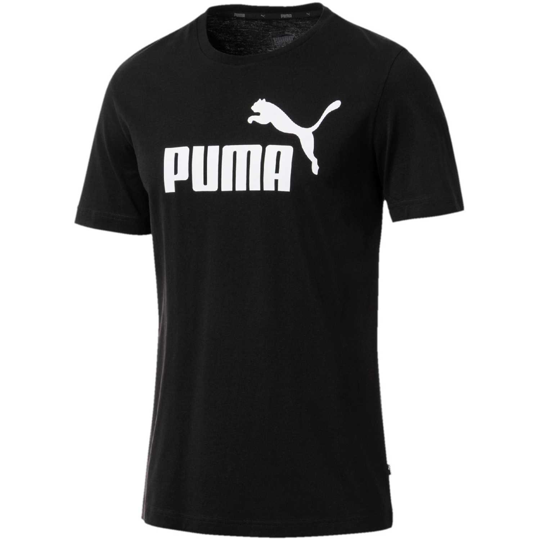 Puma Ess Logo Tee Negro / blanco Camisetas y Polos Deportivos