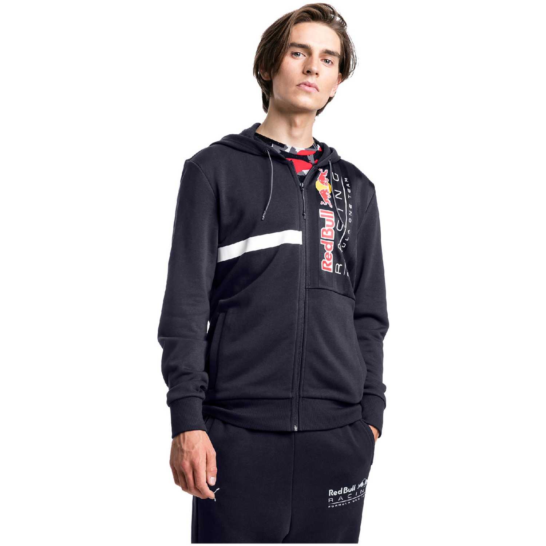 Puma rbr logo hooded sweat jacket Azul / blanco Sweatshirts Deportivos