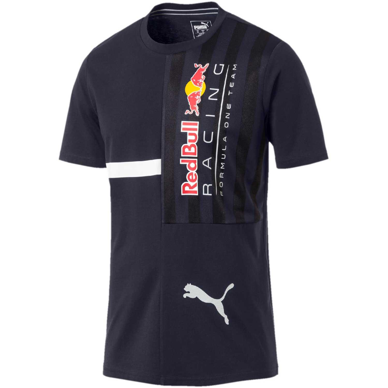 Puma rbr logo tee + Azul / blanco Camisetas y Polos Deportivos