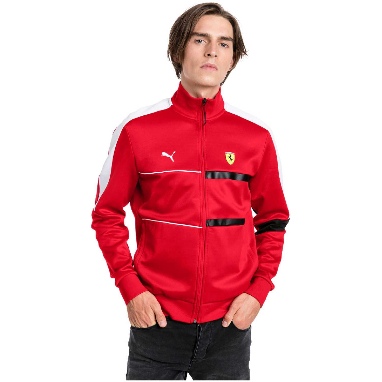 Puma sf t7 track jacket Rojo / blanco Sweatshirts Deportivos