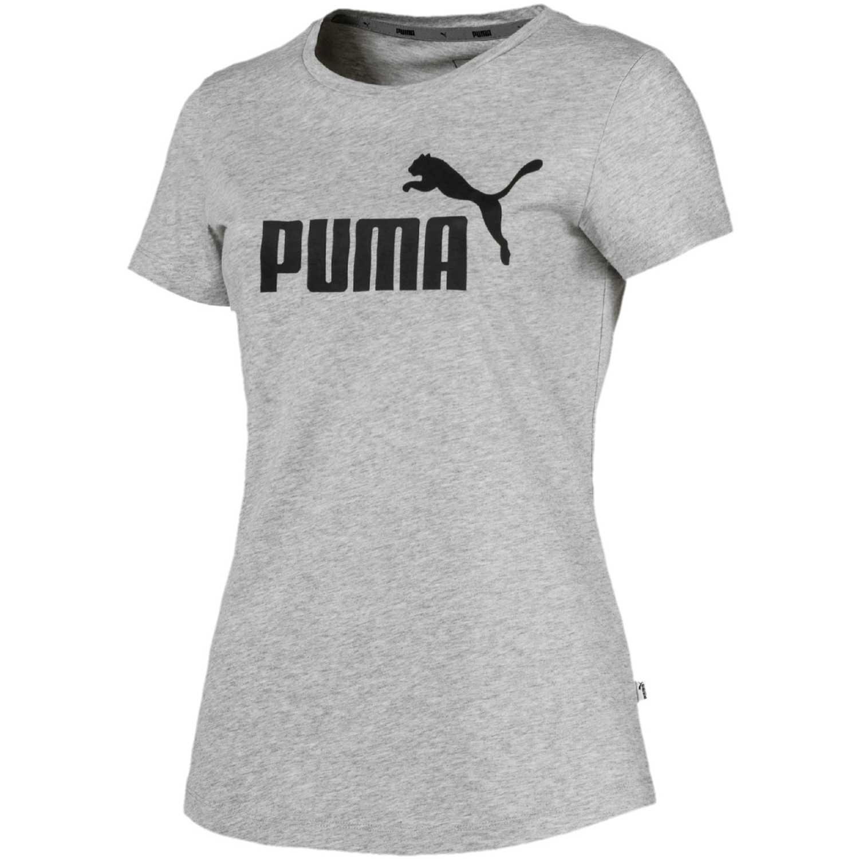 Puma Ess Logo Tee Gris / negro Polos
