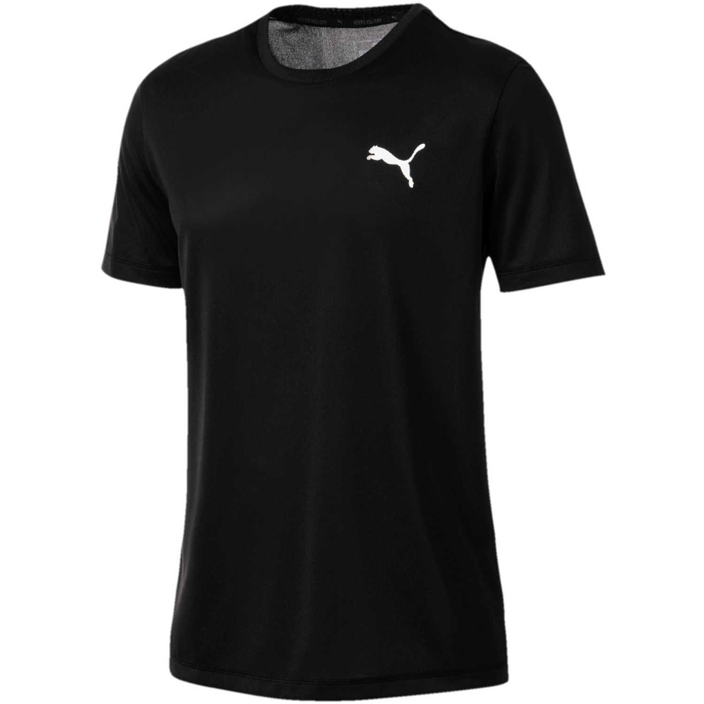 Puma Active Tee Negro / blanco Camisetas y polos deportivos