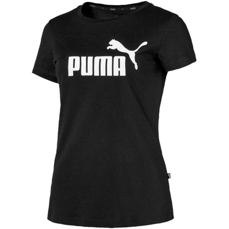 Puma ess logo tee Negro / blanco Polos