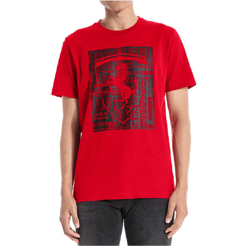 Puma ferrari big shield tee Rojo / negro Camisetas y Polos Deportivos