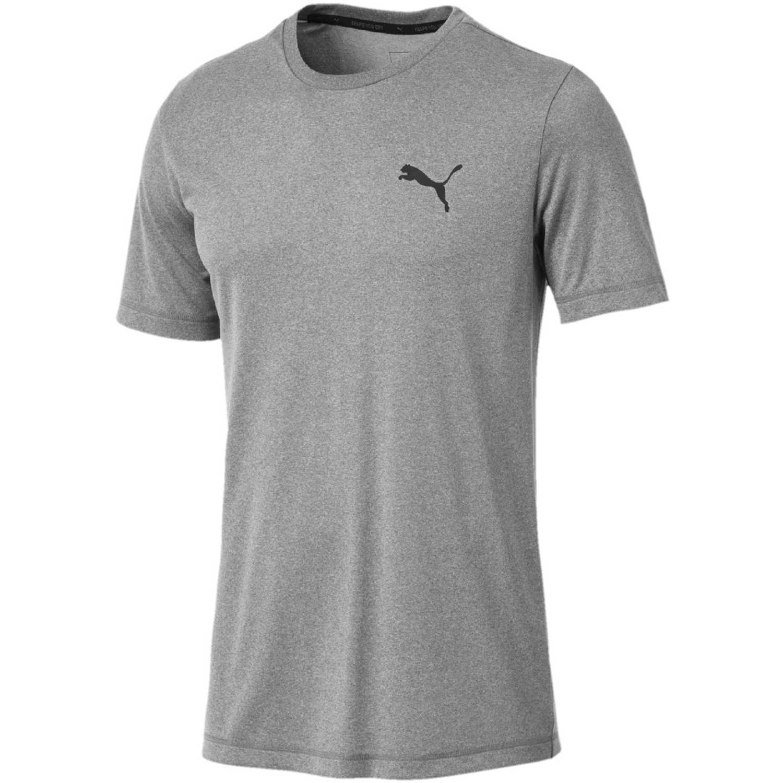 Puma Active Tee Gris / negro Camisetas y polos deportivos