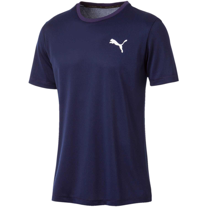Puma Active Tee Azul / blanco Camisetas y Polos Deportivos