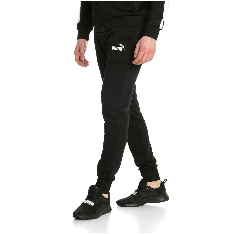 Pantalón de Hombre Puma Negro / blanco ess logo pants fl cl