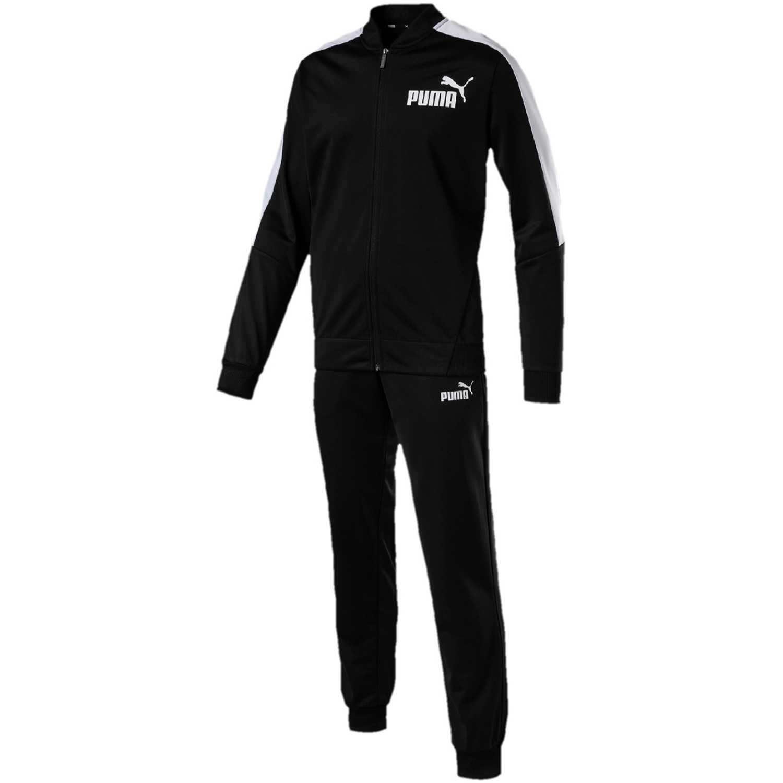 Buzo de Hombre Puma Negro / blanco baseball tricot suit cl.