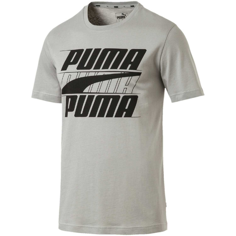 Deportivo de Hombre Puma Gris / negro rebel basic tee