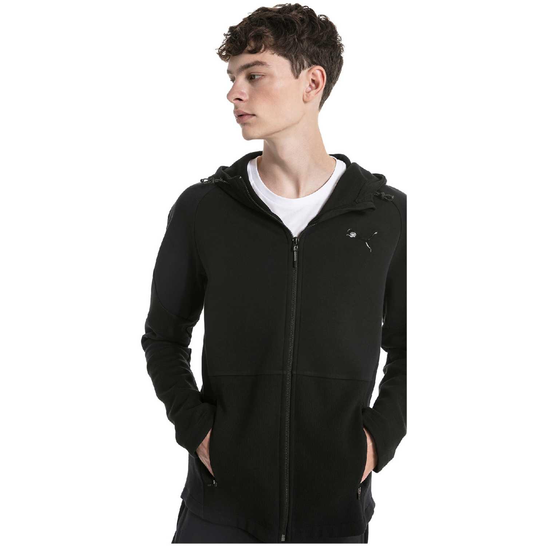 Casaca de Hombre Puma Negro evostripe move hooded jacket