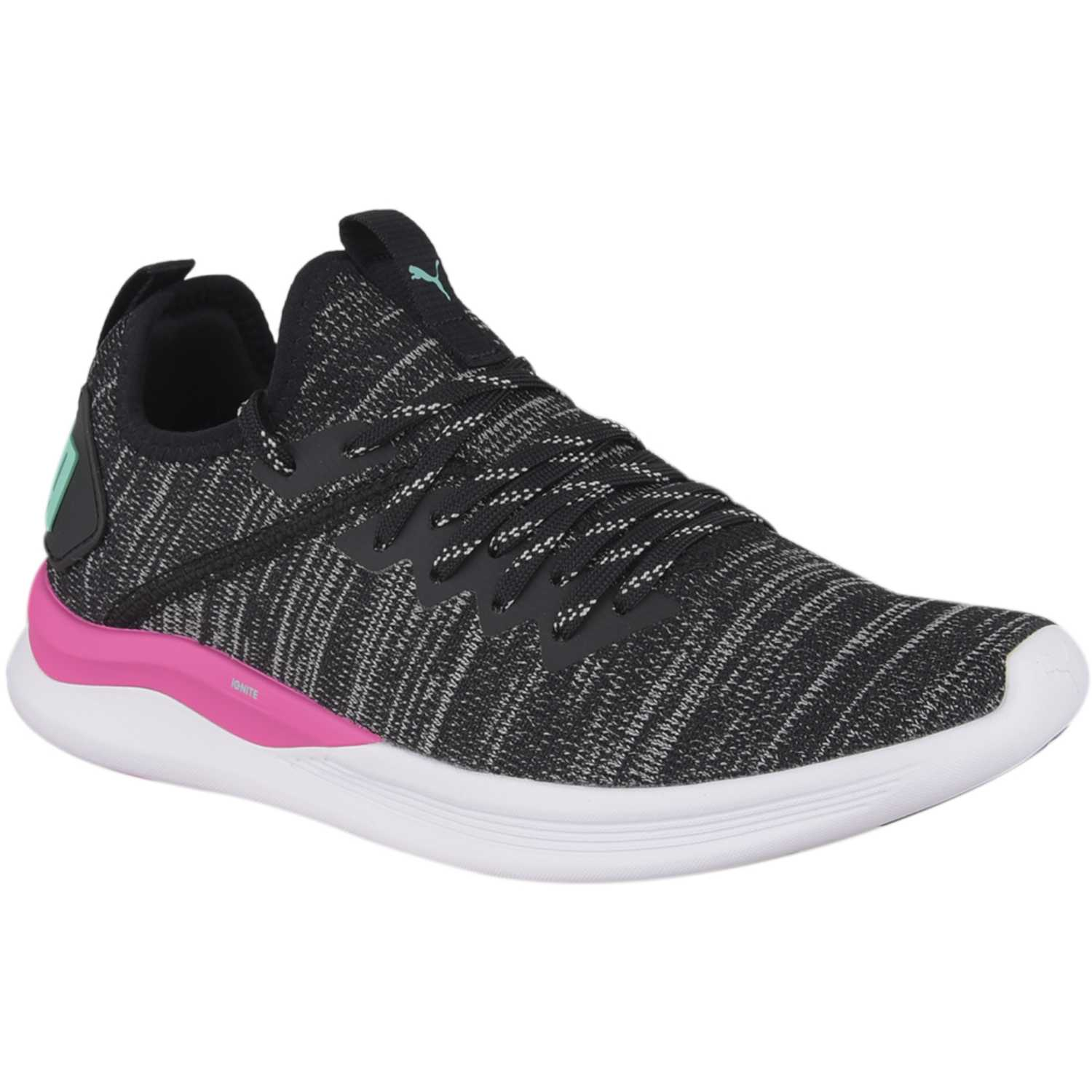 Puma ignite flash evoknit wn's Negro / fucsia Mujeres