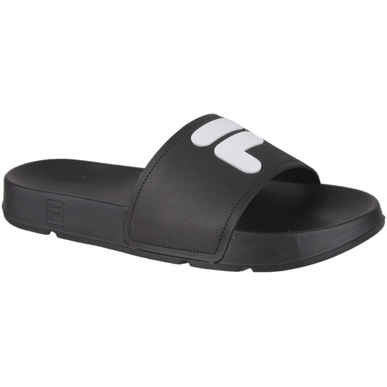 Fila chinelo fila f-slider feminino Negro / blanco Sandalias deportivas y slides