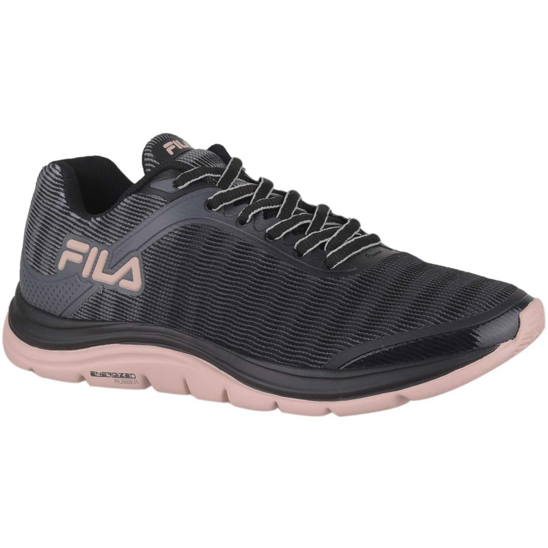 Fila tenis fila softness 2.0 feminino Negro / rosado Walking