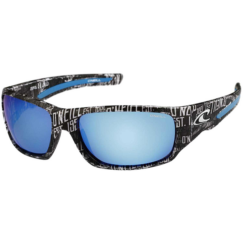 ONEILL matte black text pattern / blue mirror polarised Azul / negro Lentes de Sol
