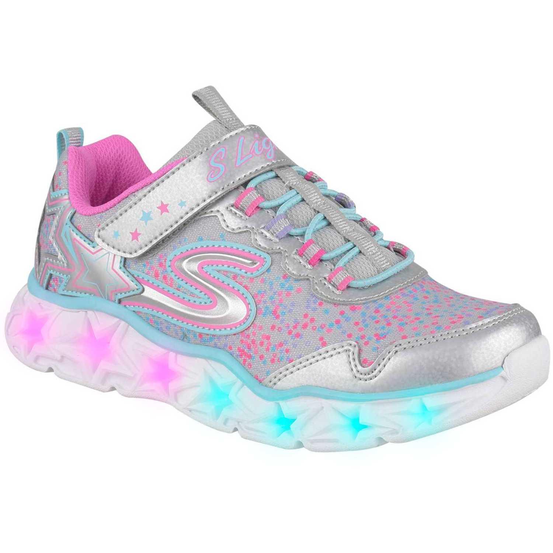 Zapatilla de Niña Skechers Plateado / rosado galaxy lights