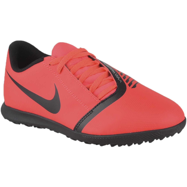 Nike jr hypervenom 4 club tf Rojo / negro Muchachos