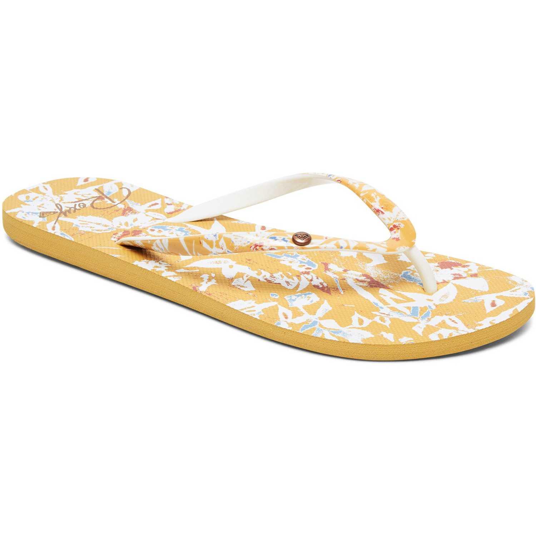 Medias Cortas de Mujer Roxy Amarillo / blanco portofino flip flops