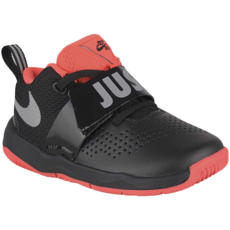 Zapatilla de Niño Nike Negro / rojo team hustle d 8 jdi bt