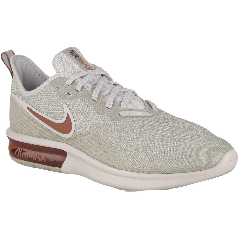 Nike nike air max sequent 4 Beige / Naranja Running en pista