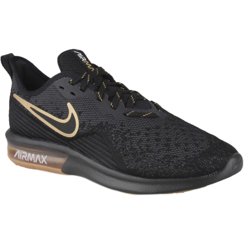 Zapatilla de Hombre Nike Negro / dorado nike air max sequent 4