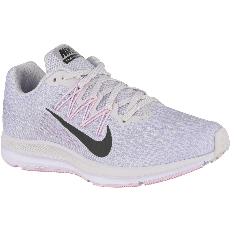 Nike wmns nike zoom winflo 5 Gris / rosado Running en pista
