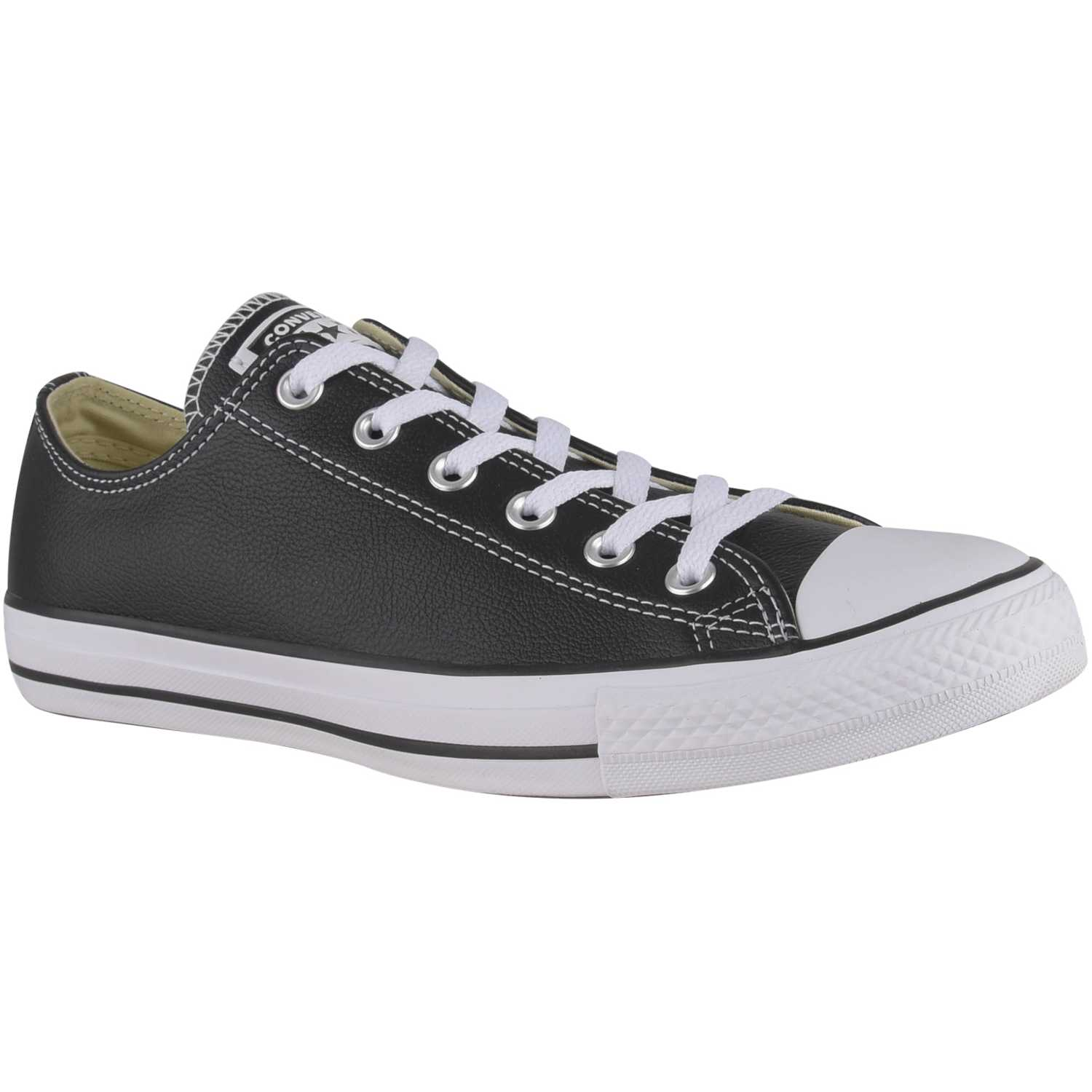 Casual de Jovencita Converse Negro / blanco ctas leather ox