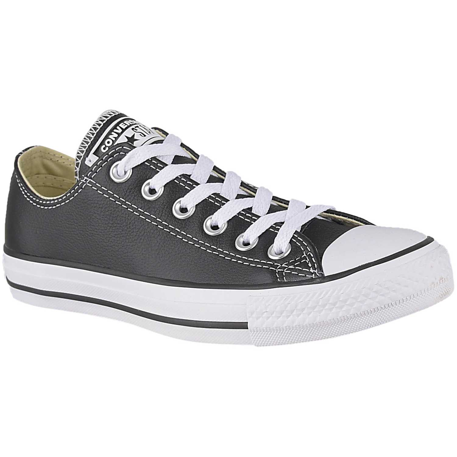 Converse ctas leather ox Negro / blanco Walking