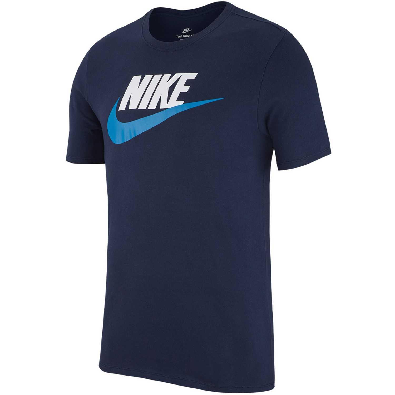 Nike m nsw tee icon futura Navy / Turquesa Polos
