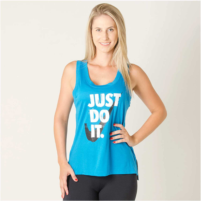 Nike W NSW TANK JDI PREP Turquesa Tank Tops