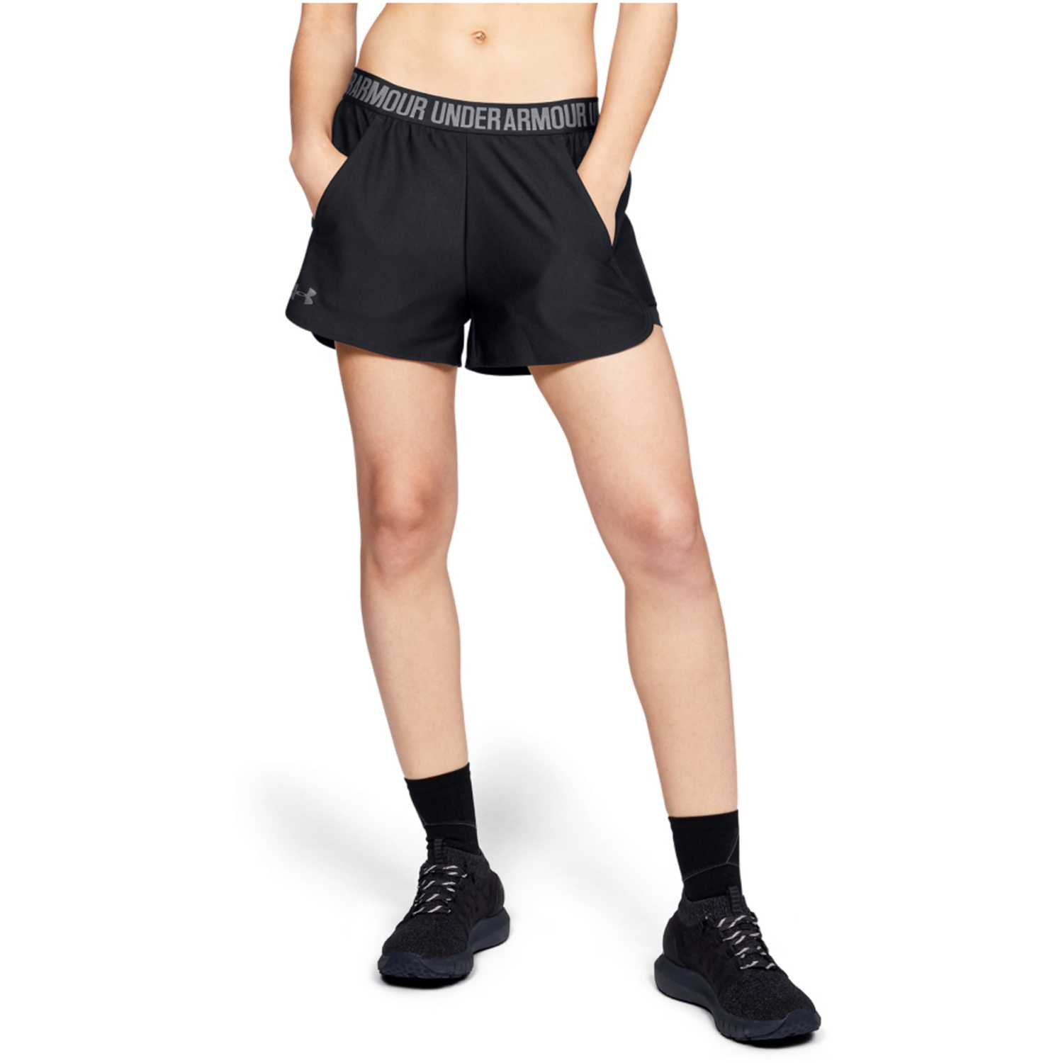 Under Armour play up short 2-in-1-blk Navy Shorts Deportivos