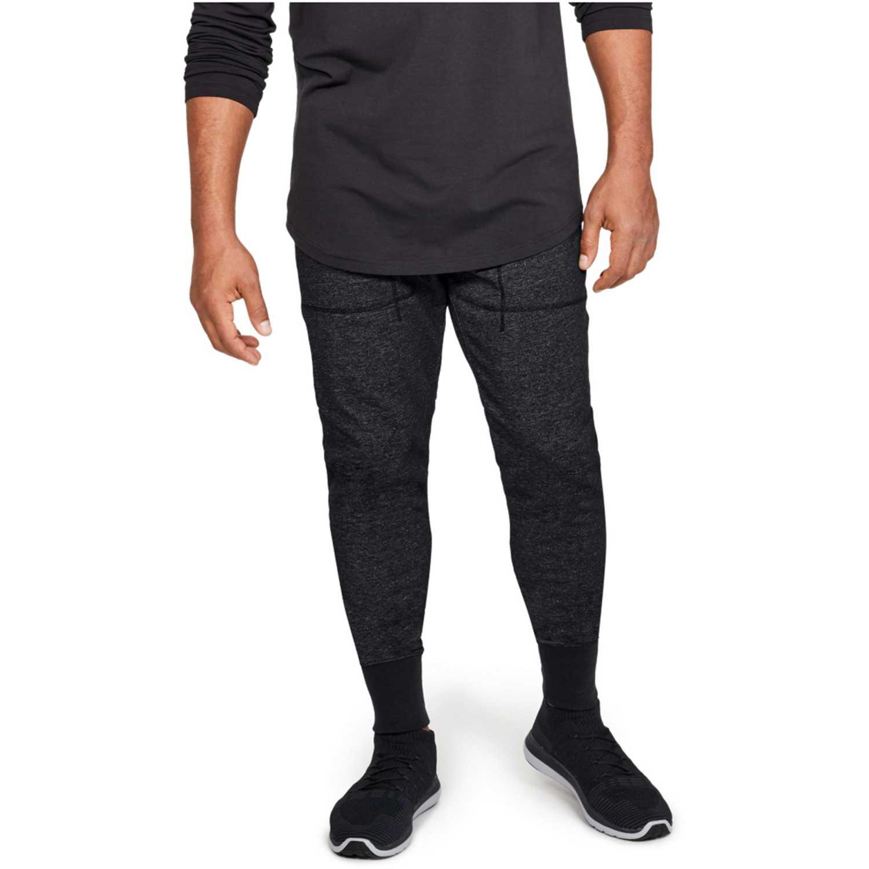 Under Armour sportstyle speckle terry jogger-blk Gris / negro Pantalones Deportivos