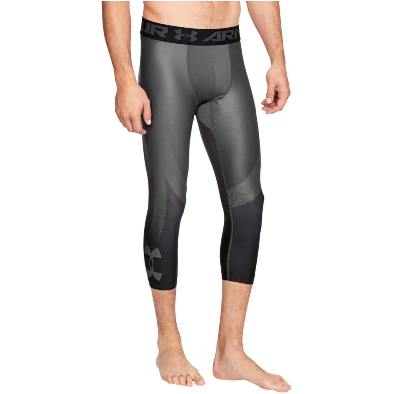 Under Armour hg armour2.0 3/4 leggingnov-gry Plomo / negro Pantalones Deportivos