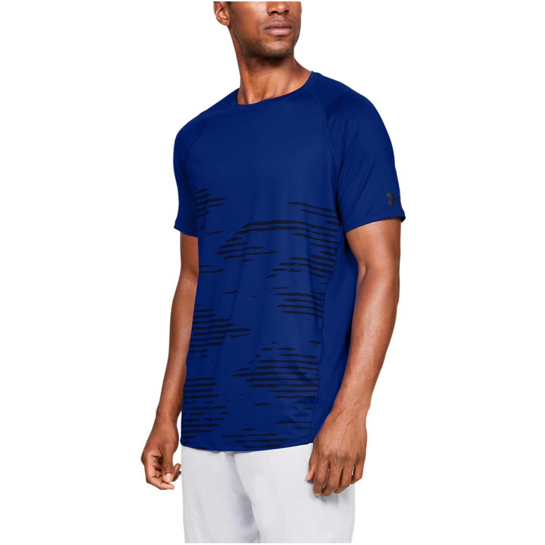 Under Armour mk1 ss camo print-blu Azulino Camisetas y Polos Deportivos