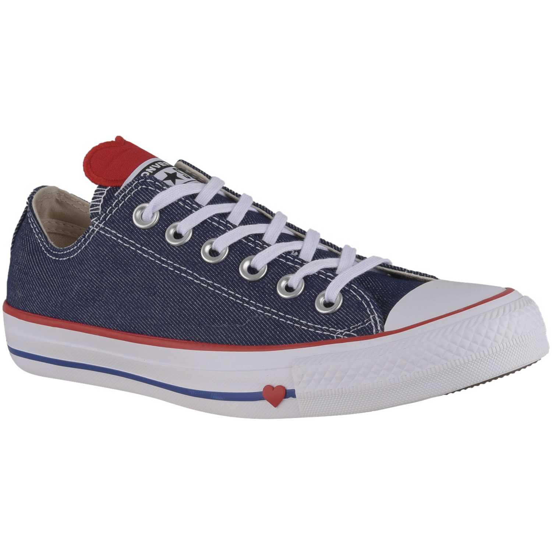 e6ff886cc9 Zapatillas casual de Mujer Converse Azul ctas denim love ox ...