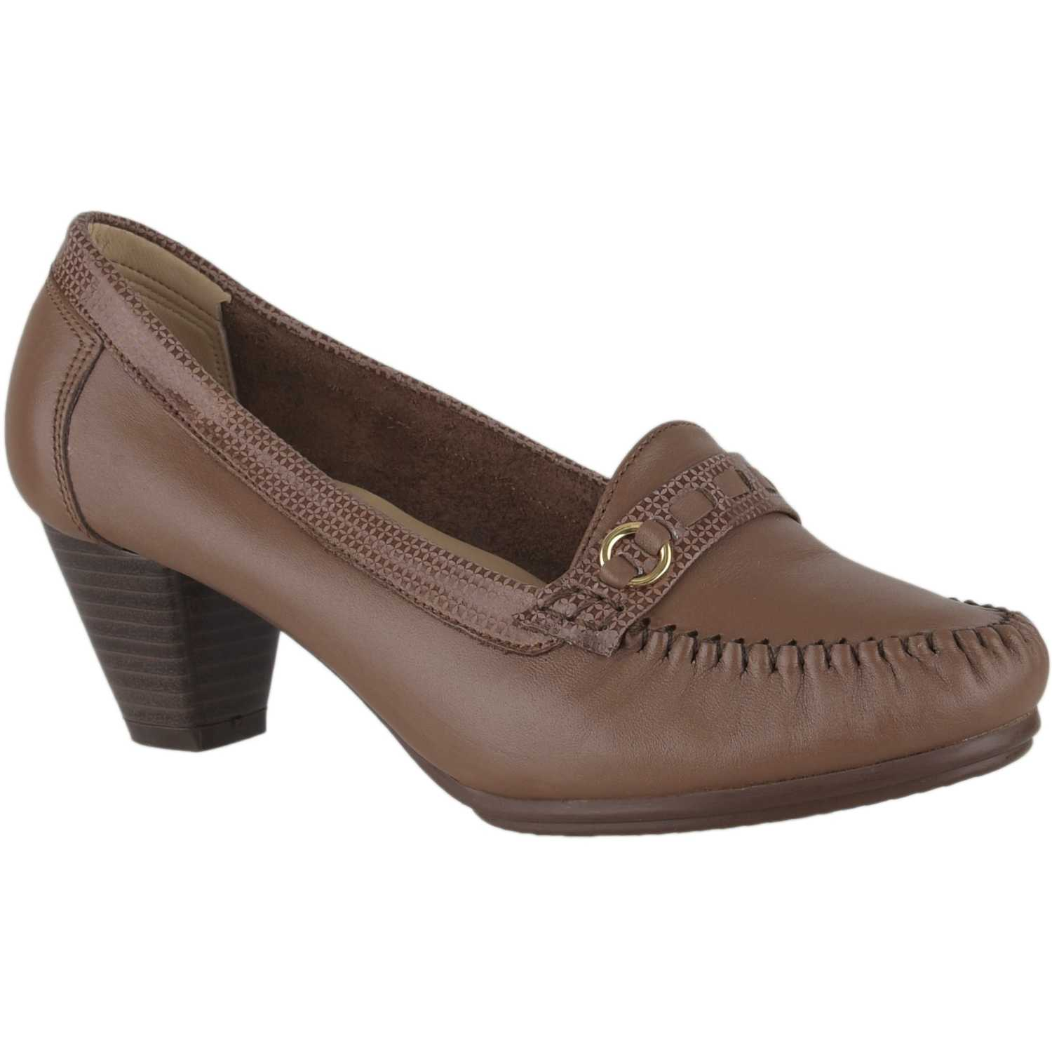 Limoni - Cuero cv regi04 Toffee Estiletos y Pumps