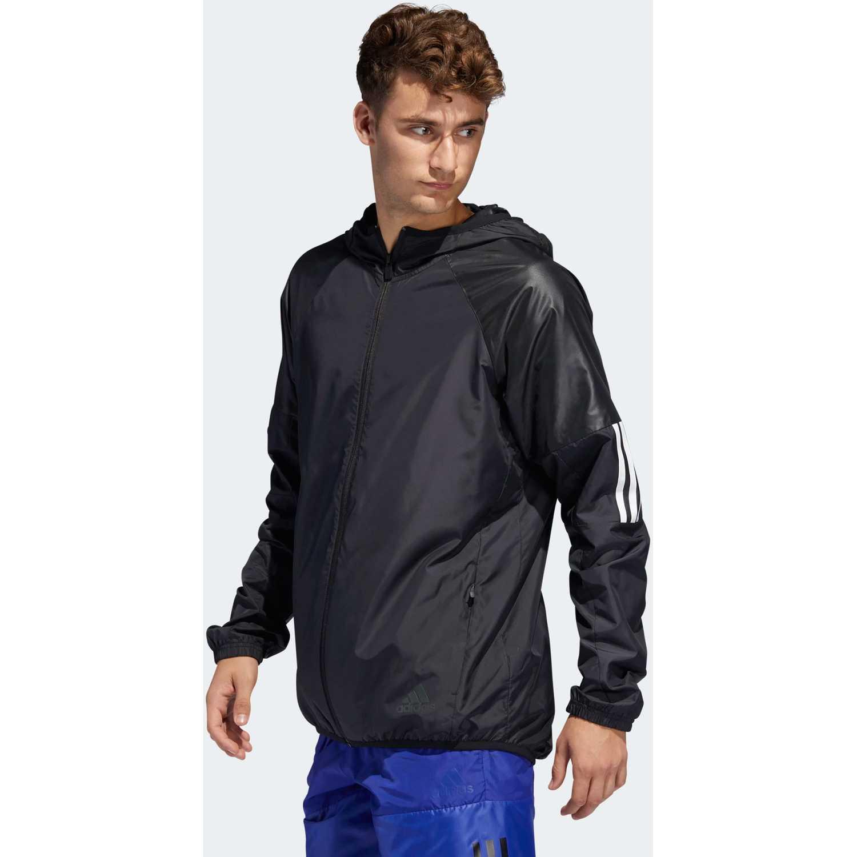 Adidas m wind fz jkt Negro Sweatshirts Deportivos