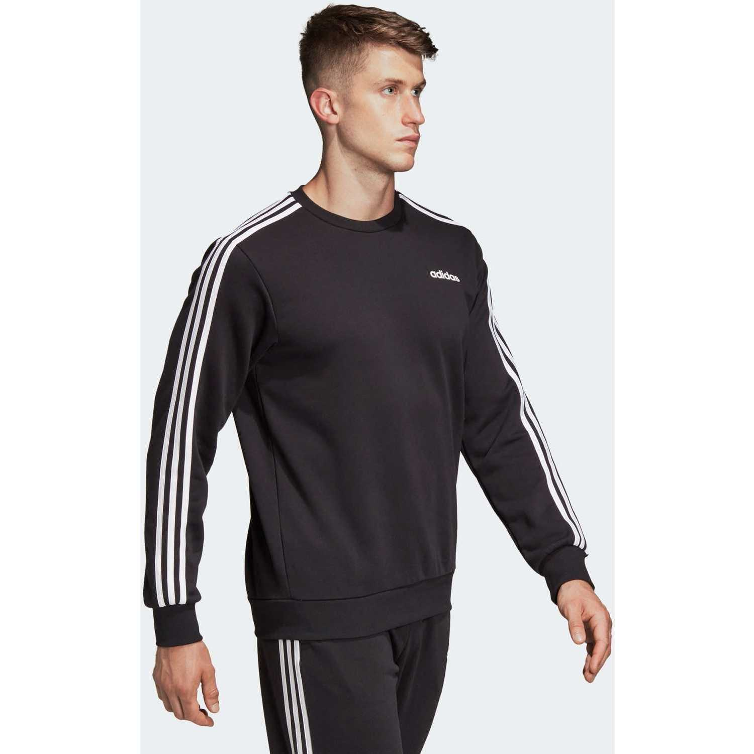 Adidas E 3S CREW FT Negro Hoodies y Sweaters Fashion