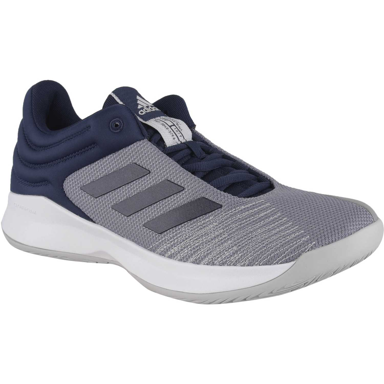 Adidas pro spark 2018 low Plomo / azul Hombres