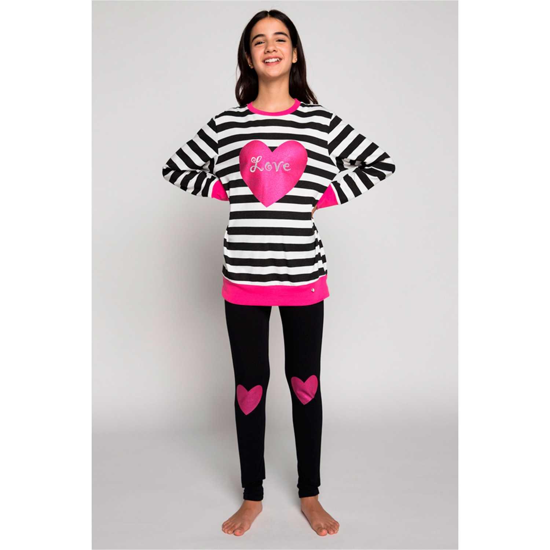 Pijamas de Niña Kayser Negro 65.1213-neg