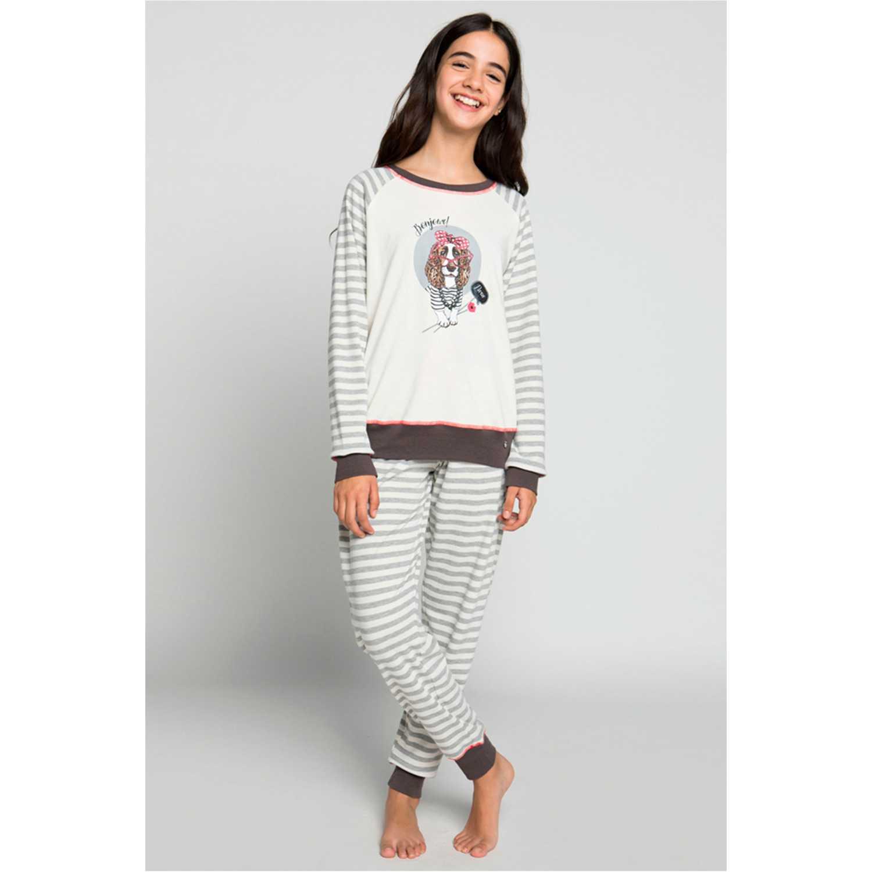 Pijamas de Niña Kayser Gris 65.1198-gri