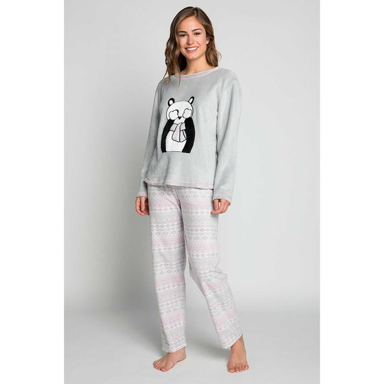 Pijama de Mujer Kayser Gris 60.1210-gri