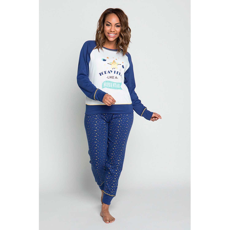 Pijamas de Mujer Kayser Azul 60.1207-azu