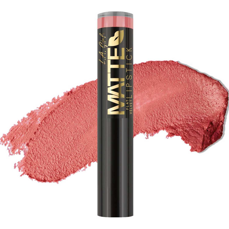 L.a. Girl Matte Flat Velvet Lipstick Hush Lápiz labial
