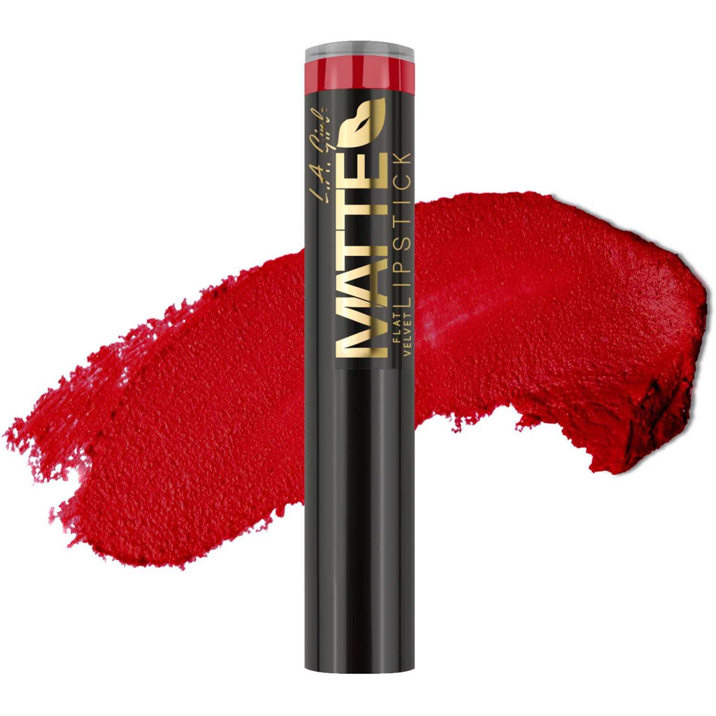 L.a. Girl matte flat velvet lipstick Relentless Lápiz labial